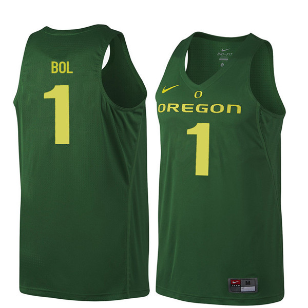 Men #1 Bol Bol Oregon Ducks College Basketball Jerseys Sale-Dark Green