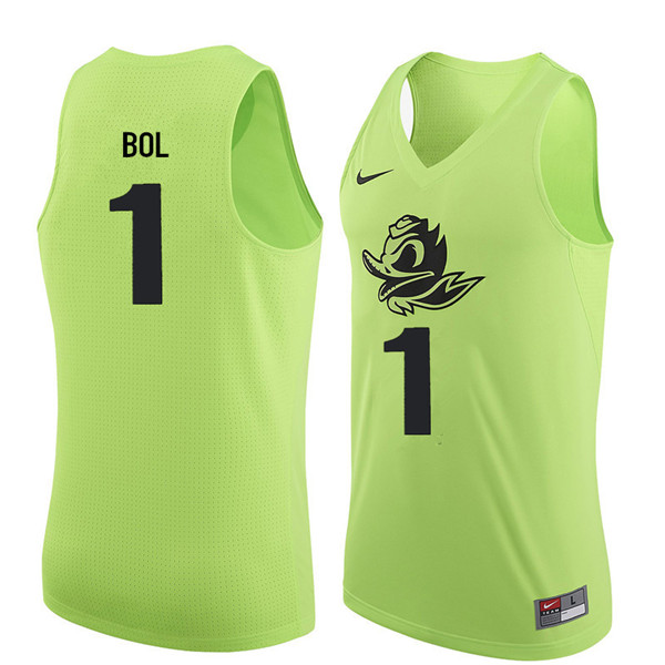 Men #1 Bol Bol Oregon Ducks College Basketball Jerseys Sale-Electric Green