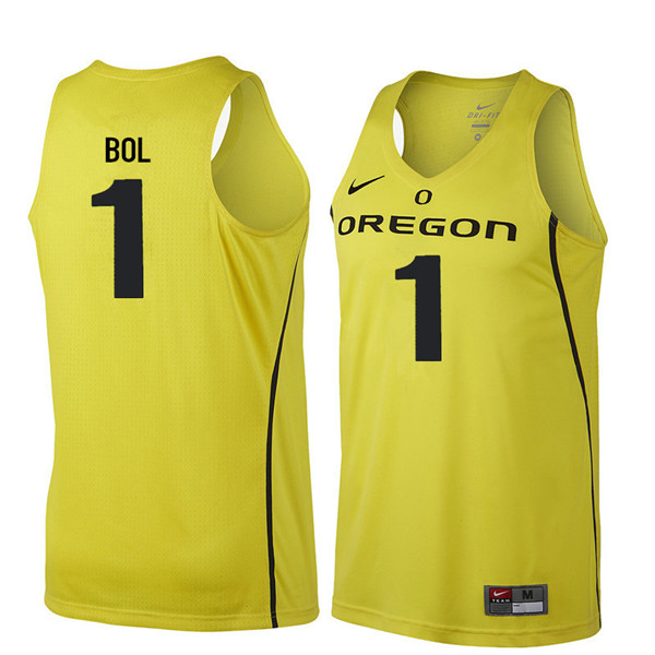 Men #1 Bol Bol Oregon Ducks College Basketball Jerseys Sale-Yellow