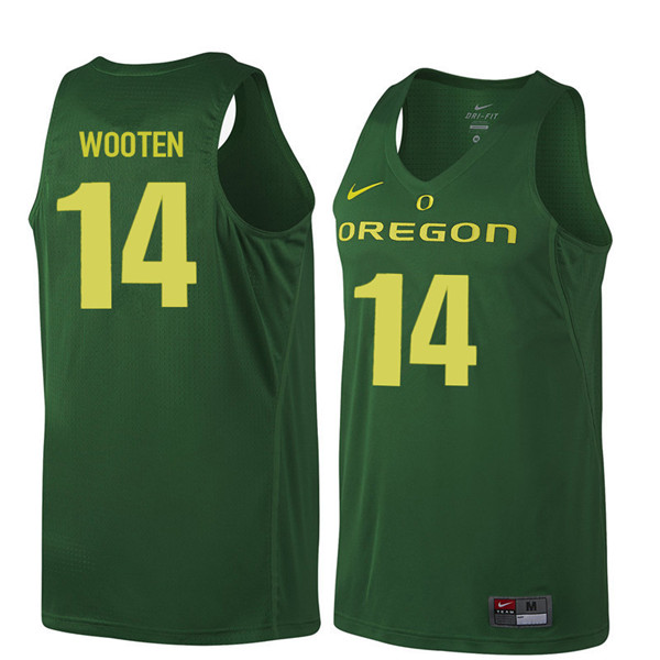 Men #14 Kenny Wooten Oregon Ducks College Basketball Jerseys Sale-Dark Green