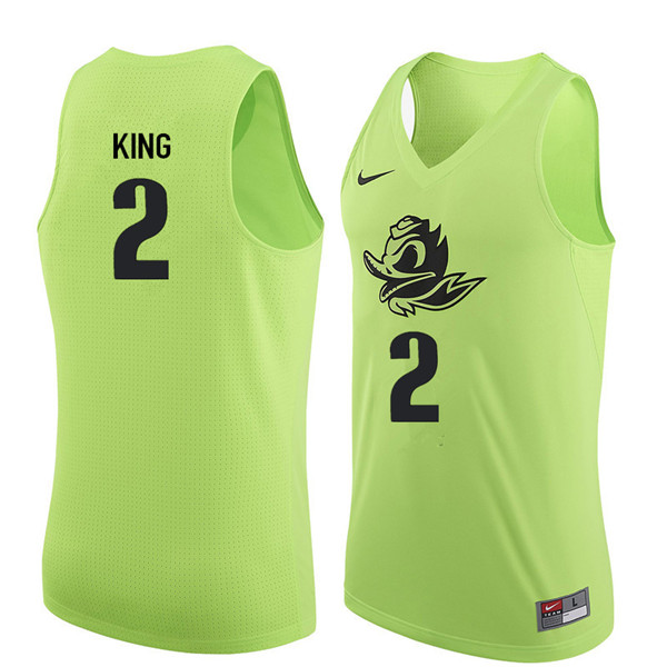 Men #2 Louis King Oregon Ducks College Basketball Jerseys Sale-Electric Green