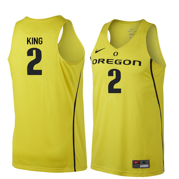 Men #2 Louis King Oregon Ducks College Basketball Jerseys Sale-Yellow