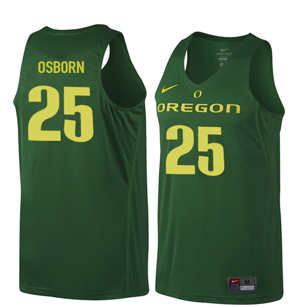 Men #25 Luke Osborn Oregon Ducks College Basketball Jerseys Sale-Dark Green