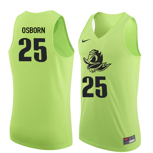 Men #25 Luke Osborn Oregon Ducks College Basketball Jerseys Sale-Electric Green