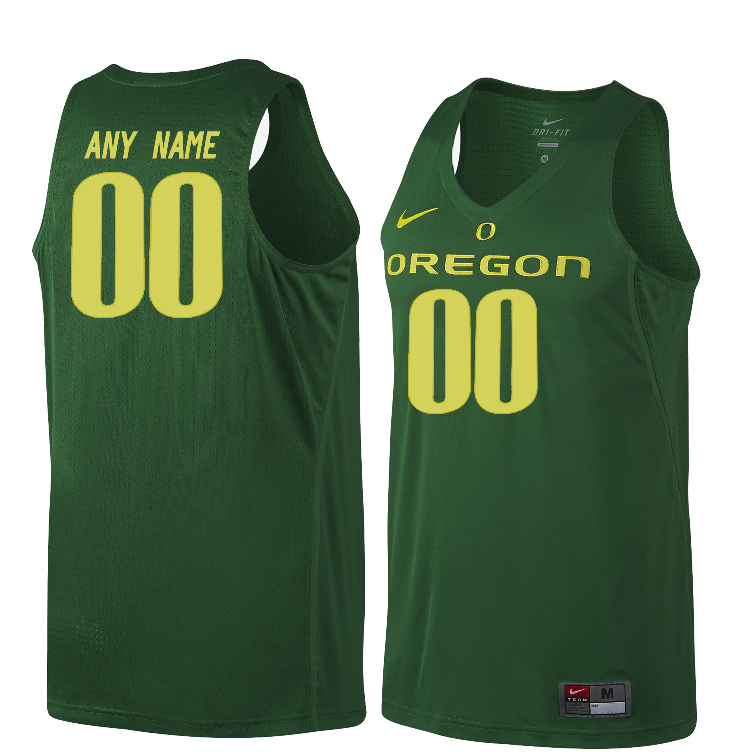 Men Oregon Ducks Customs College Basketball Jerseys Sale-Dark Green