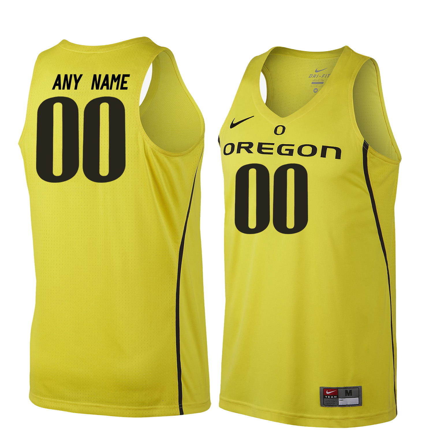 Men Oregon Ducks Customs College Basketball Jerseys Sale-Yellow