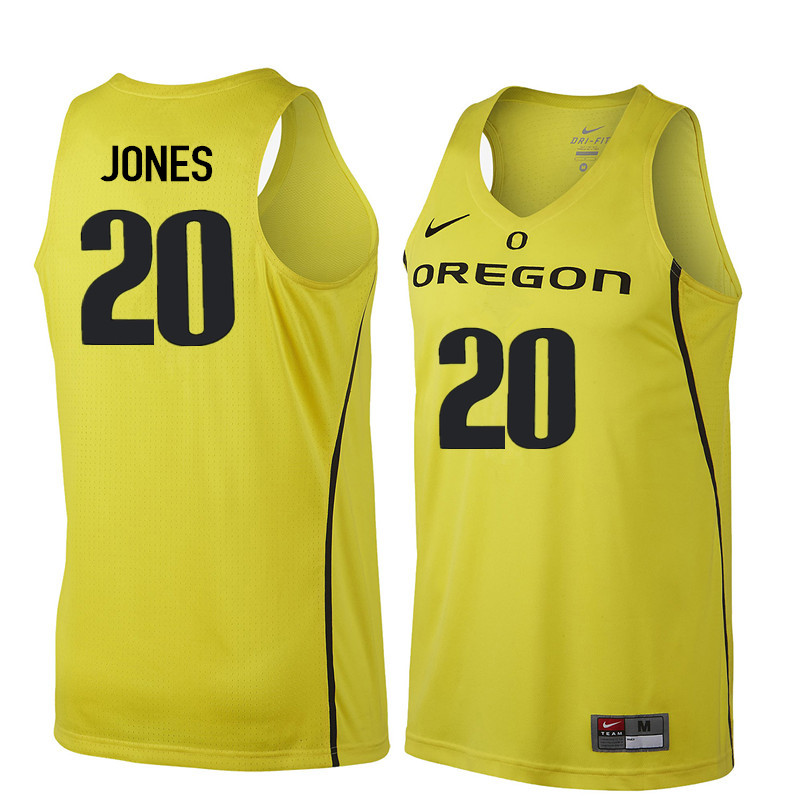 hot sale online 3248c 1eabe Men Oregon Ducks #20 Fred Jones College Basketball ...