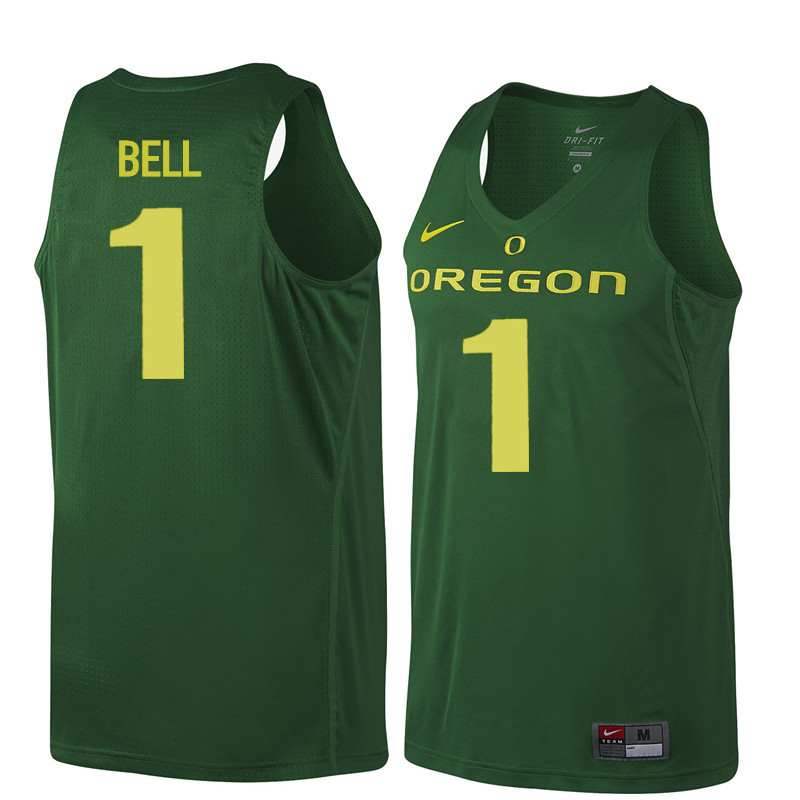 Men Oregon Ducks #1 Jordan Bell College Basketball Jerseys Sale-Dark Green
