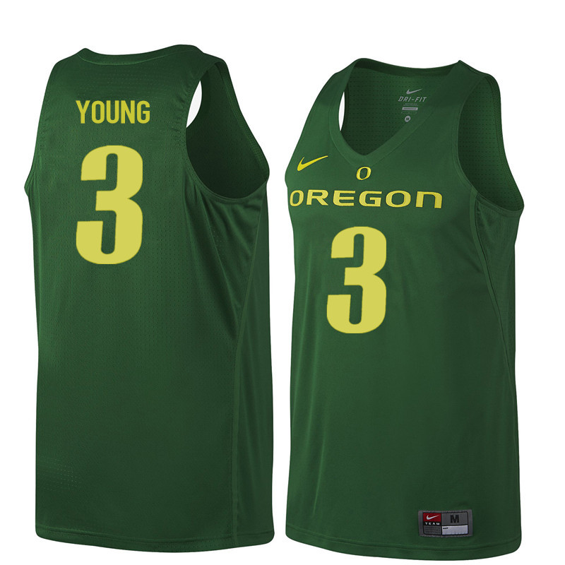 Men Oregon Ducks #3 Joseph Young College Basketball Jerseys Sale-Dark Green