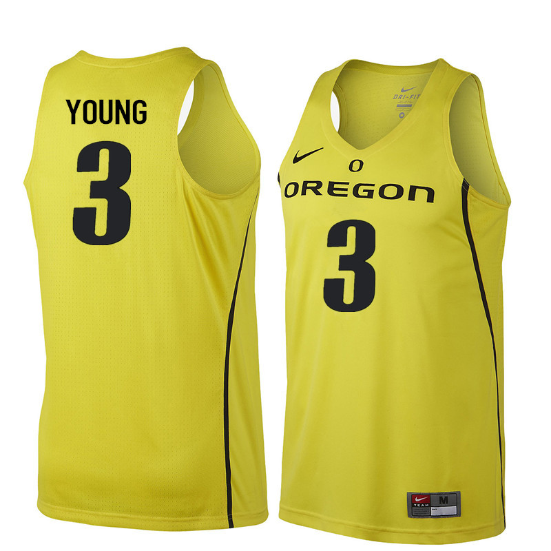 Men Oregon Ducks #3 Joseph Young College Basketball Jerseys Sale-Yellow