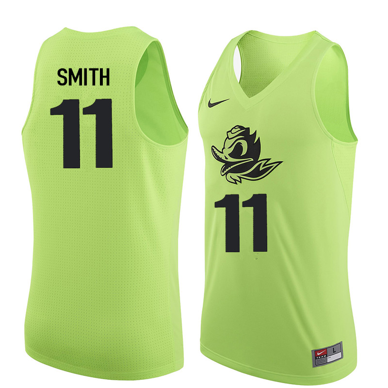 Men Oregon Ducks #11 Keith Smith College Basketball Jerseys Sale-Electric Green