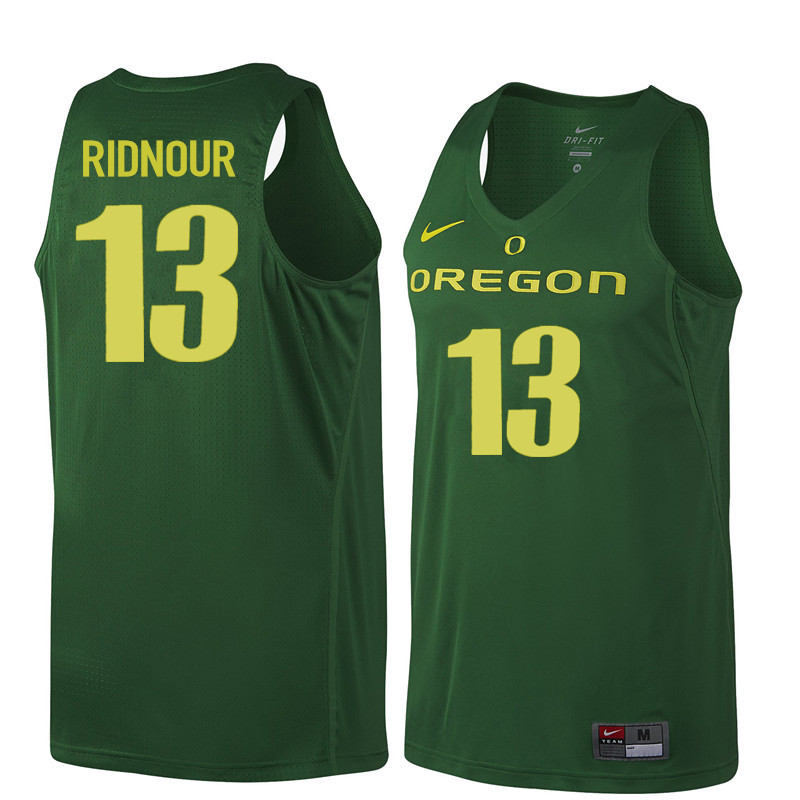 Men Oregon Ducks #13 Luke Ridnour College Basketball Jerseys Sale-Dark Green