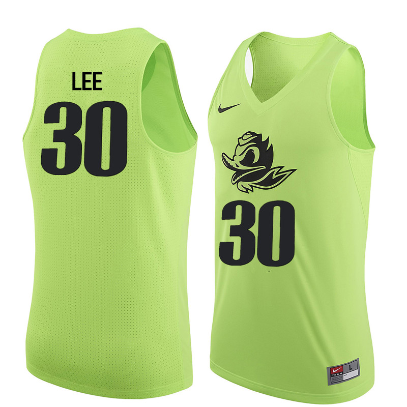 Men Oregon Ducks #30 Ron Lee College Basketball Jerseys Sale-Electric Green
