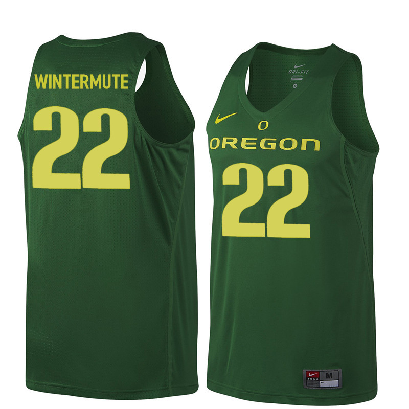 Men Oregon Ducks #22 Slim Wintermute College Basketball Jerseys Sale-Dark Green