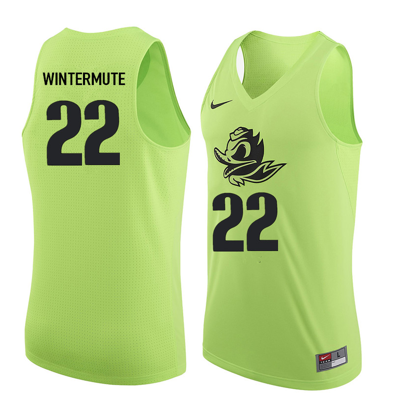 Men Oregon Ducks #22 Slim Wintermute College Basketball Jerseys Sale-Electric Green