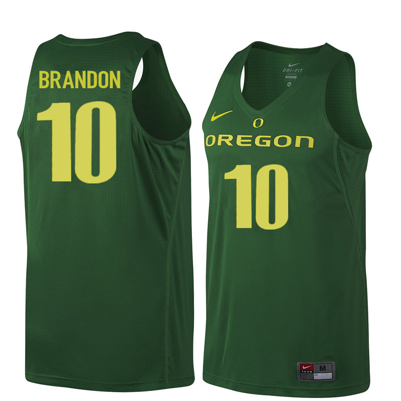 Men Oregon Ducks #10 Terrell Brandon College Basketball Jerseys Sale-Dark Green