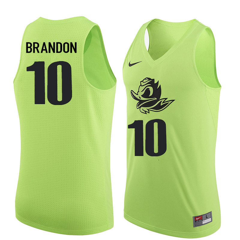 Men Oregon Ducks #10 Terrell Brandon College Basketball Jerseys Sale-Electric Green