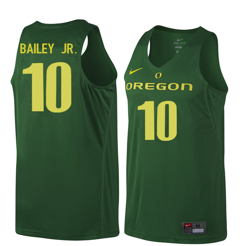 Men #10 Victor Bailey Jr. Oregon Ducks College Basketball Jerseys Sale-Dark Green