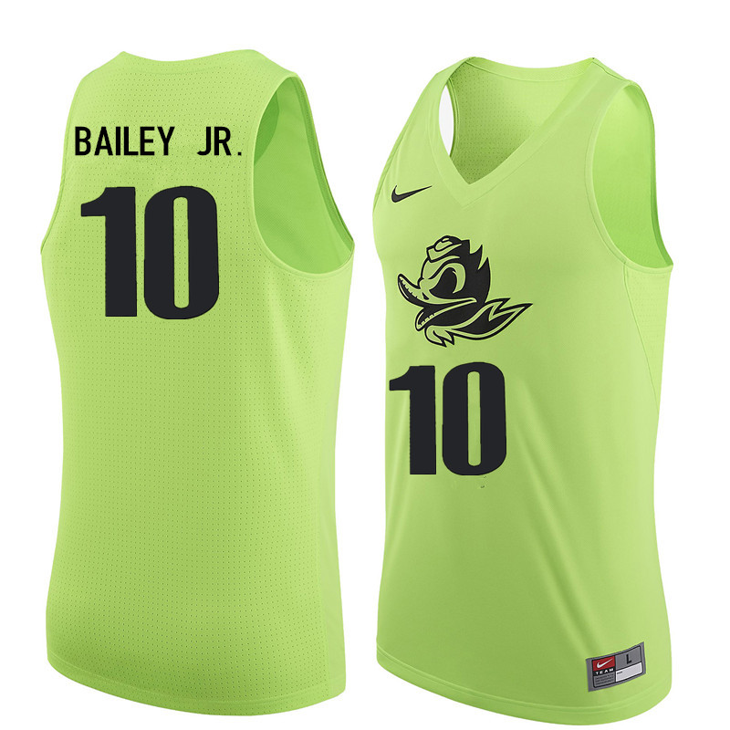 Men #10 Victor Bailey Jr. Oregon Ducks College Basketball Jerseys Sale-Electric Green