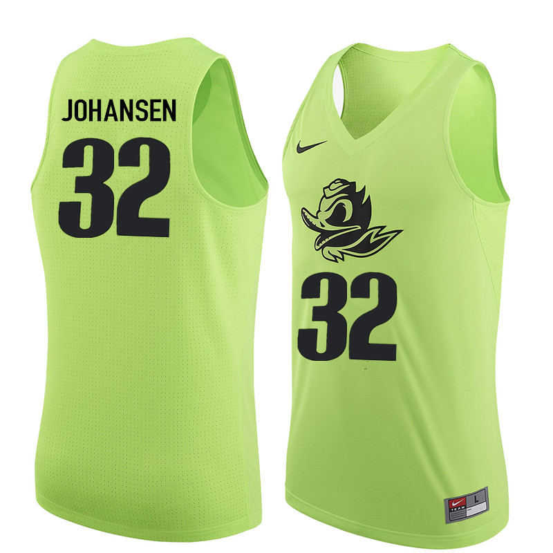 Men Oregon Ducks #32 Wally Johansen College Basketball Jerseys Sale-Electric Green