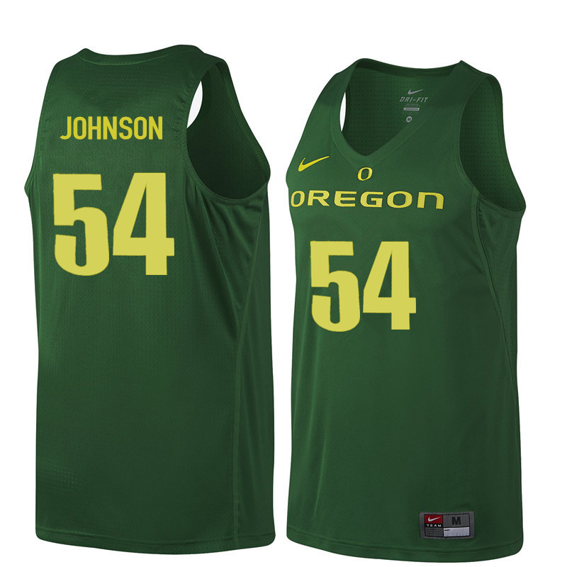 Men #54 Will Johnson Oregon Ducks College Basketball Jerseys Sale-Dark Green