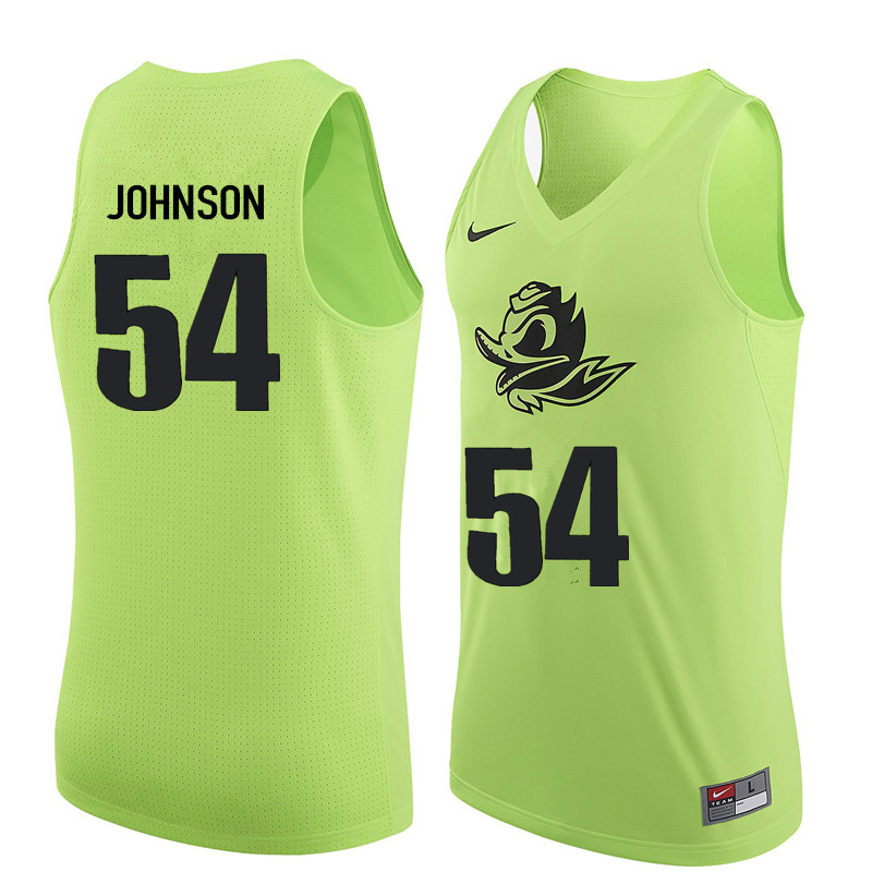 Men #54 Will Johnson Oregon Ducks College Basketball Jerseys Sale-Electric Green